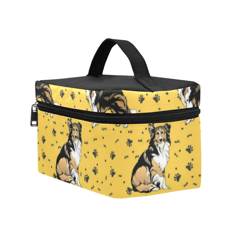 Collie Cosmetic Bag/Large - TeeAmazing
