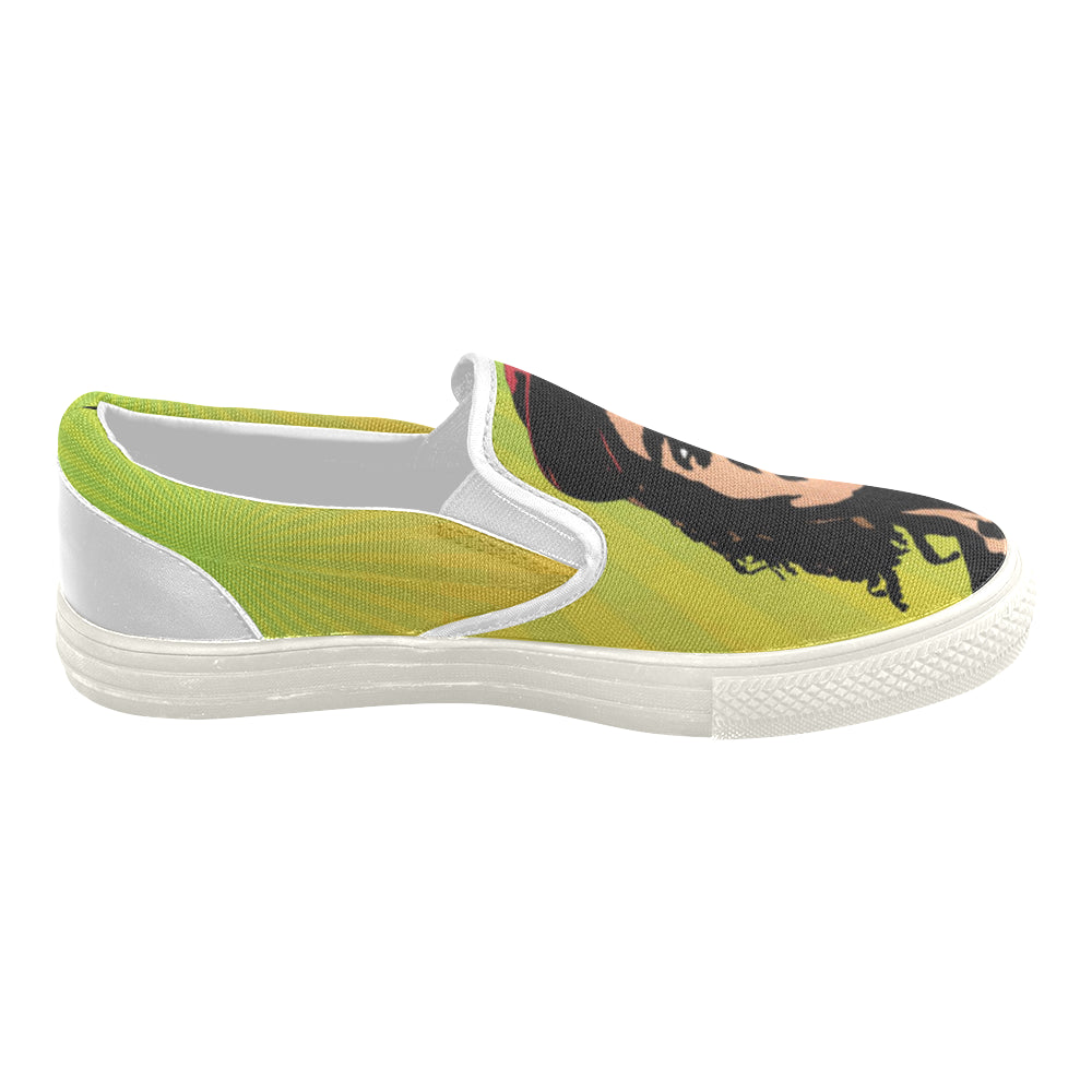 Bob Marley White Women's Slip-on Canvas Shoes - TeeAmazing