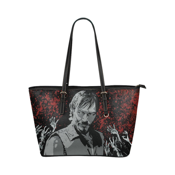 Daryl Dixon Leather Tote Bags - The Walking Dead Bags - TeeAmazing - 1