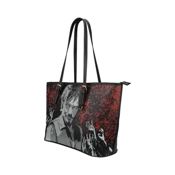 Daryl Dixon Leather Tote Bags - The Walking Dead Bags - TeeAmazing - 2