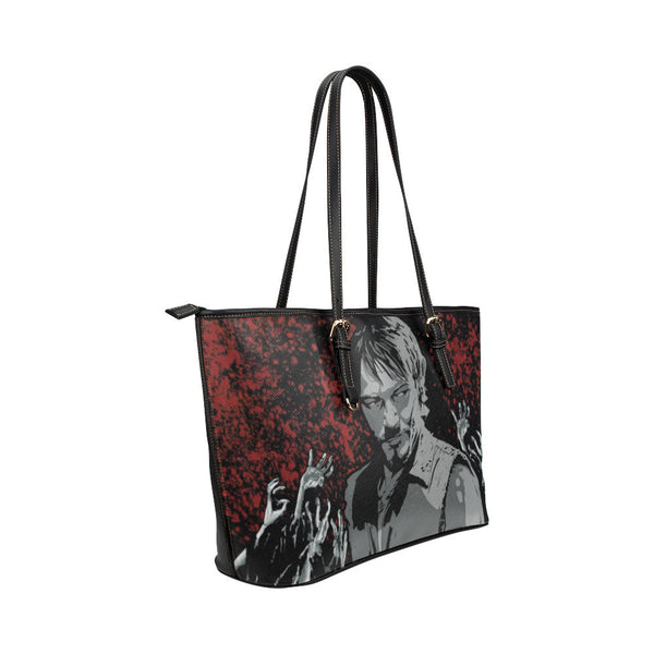 Daryl Dixon Leather Tote Bags - The Walking Dead Bags - TeeAmazing - 4
