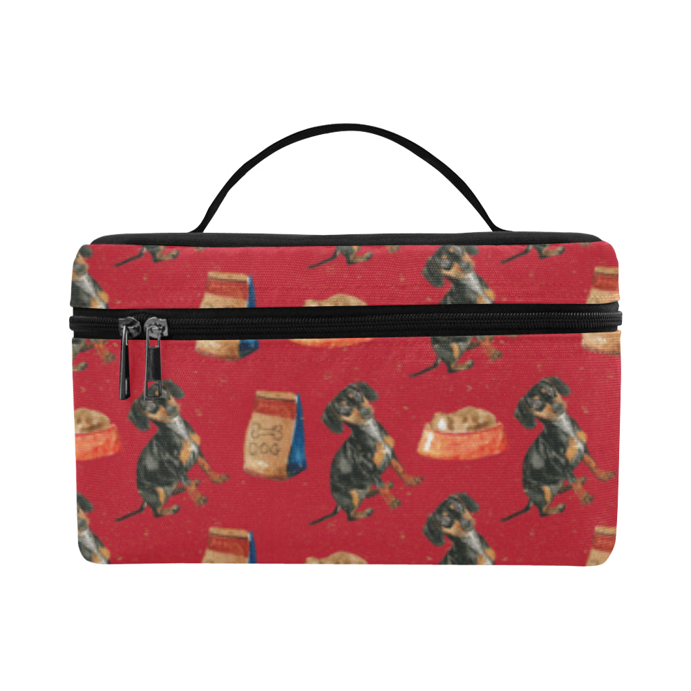 Dachshund Water Colour Pattern No.2 Cosmetic Bag/Large - TeeAmazing