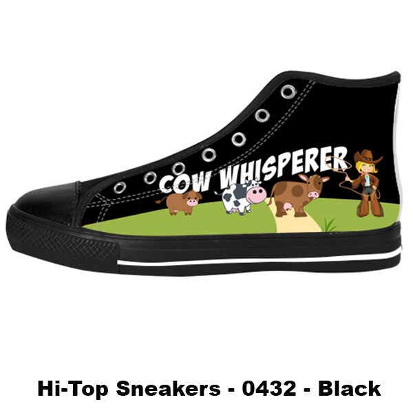Made only for Cow Lovers - Cow Whisperer Sneakers - TeeAmazing