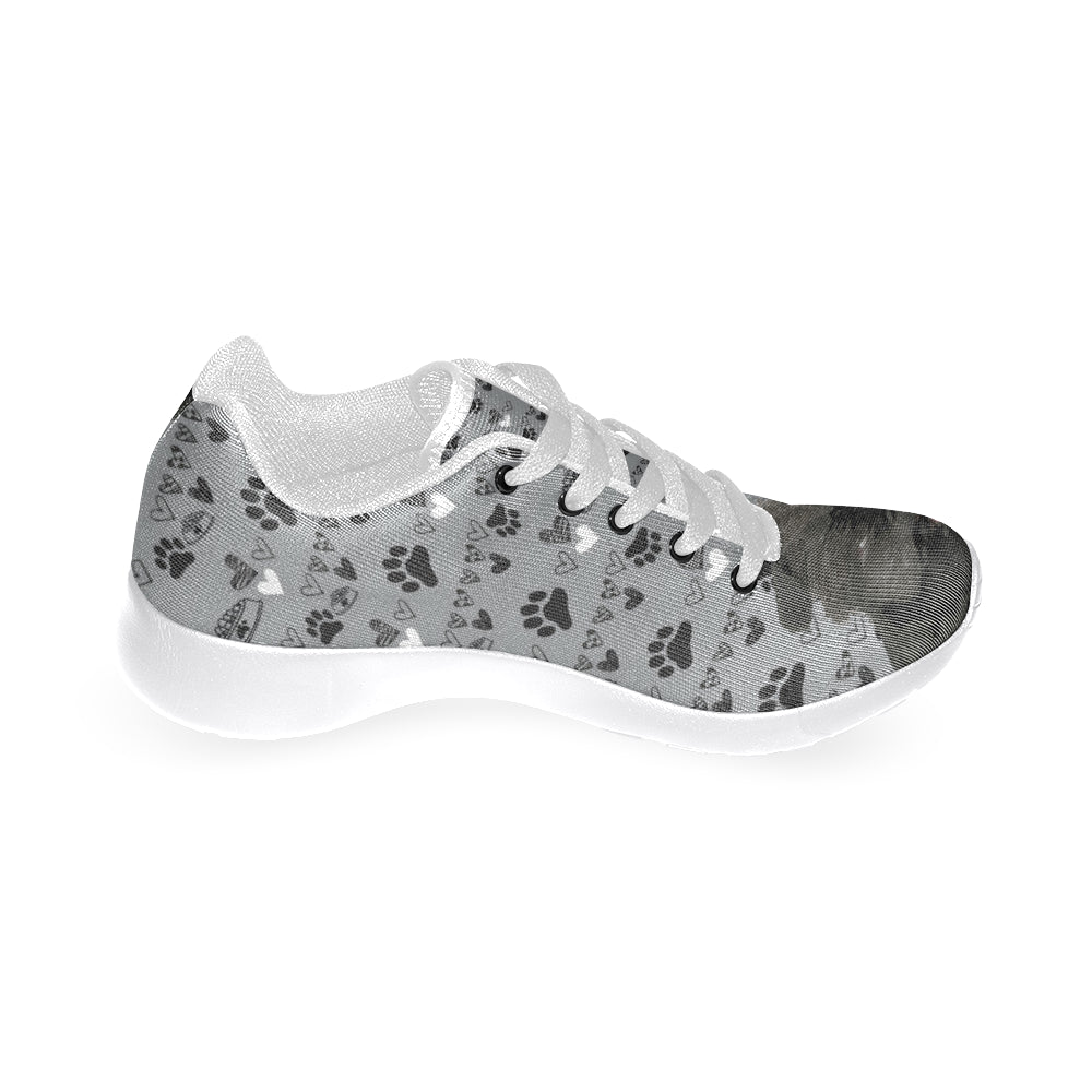 Affenpinschers White Sneakers Size 13-15 for Men - TeeAmazing