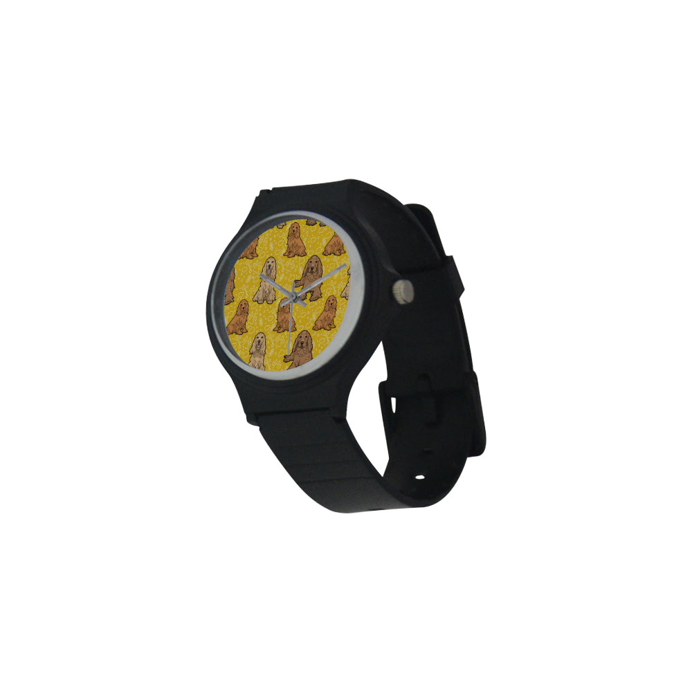 Cocker Spaniel Unisex Round Plastic Watch - TeeAmazing
