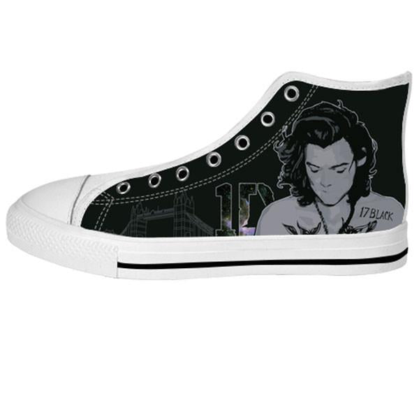 Awesome Custom Harry Shoes Design - 1D Sneakers - TeeAmazing