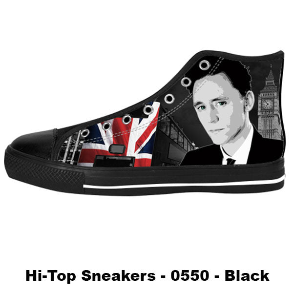 Awesome Custom Tom Hiddleston Shoes Design - Tom Hiddleston Sneakers - TeeAmazing - 1