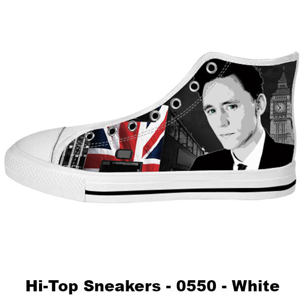 Awesome Custom Tom Hiddleston Shoes Design - Tom Hiddleston Sneakers - TeeAmazing