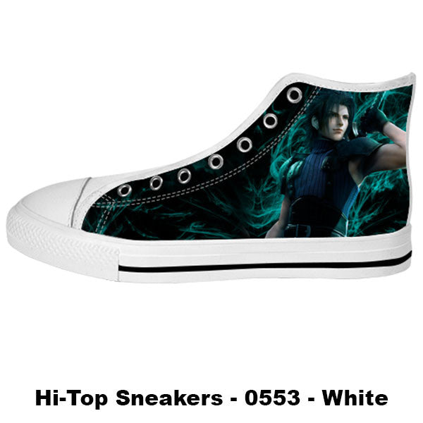 Awesome Custom Zack Fair Shoes Design - Final Fantasy Sneakers - TeeAmazing