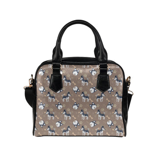 Siberian Husky Pattern Shoulder Handbag (Model 1634) - TeeAmazing