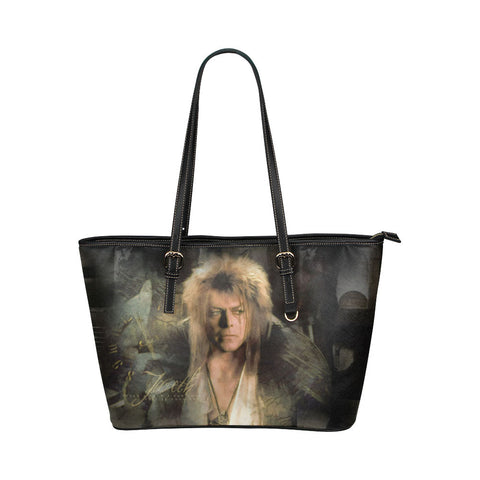 Goblin King Leather Tote Bags - Labyrinth Bags - TeeAmazing