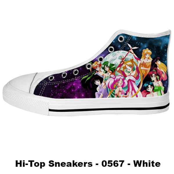 Awesome Custom Sailor Scouts Shoes Design - Sailor Moon Sneakers - TeeAmazing - 2