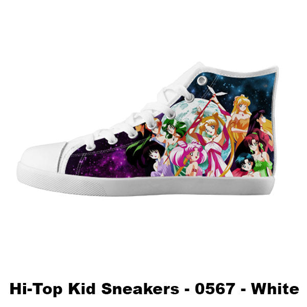 Awesome Custom Sailor Scouts Shoes Design - Sailor Moon Sneakers - TeeAmazing