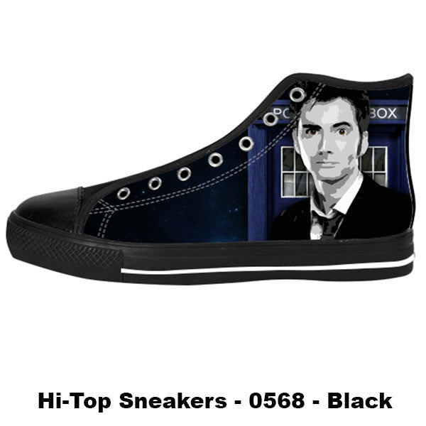 Awesome Custom 10th Doctor Shoes Design - Doctor Who Sneakers - TeeAmazing - 1