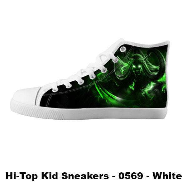 Illidan Shoes & Sneakers - Custom World of Warcraft Canvas Shoes - TeeAmazing