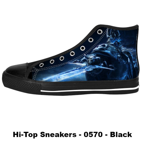 Arthas Shoes & Sneakers - Custom World of Warcraft Canvas Shoes - TeeAmazing - 1