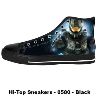 Master Chief Shoes & Sneakers - Custom Halo Canvas Shoes - TeeAmazing
