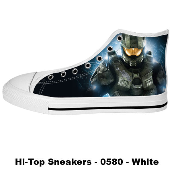 Master Chief Shoes & Sneakers - Custom Halo Canvas Shoes - TeeAmazing - 2