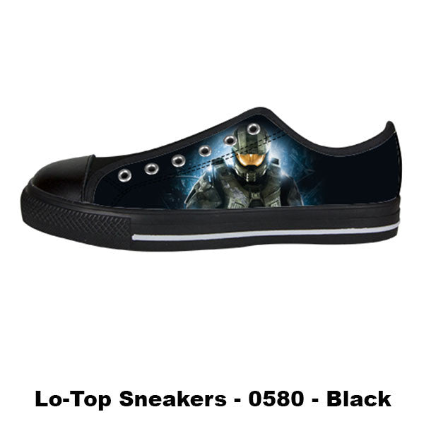 Master Chief Shoes & Sneakers - Custom Halo Canvas Shoes - TeeAmazing - 3