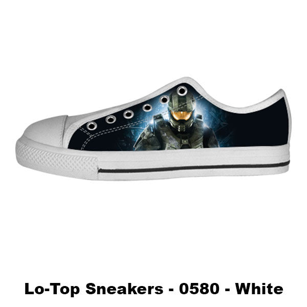Master Chief Shoes & Sneakers - Custom Halo Canvas Shoes - TeeAmazing - 4