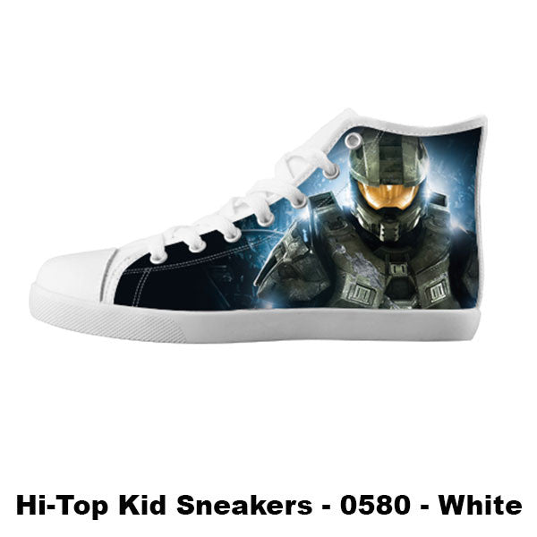Master Chief Shoes & Sneakers - Custom Halo Canvas Shoes - TeeAmazing - 5