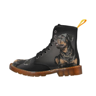 Rottweiler Black Boots For Women - TeeAmazing