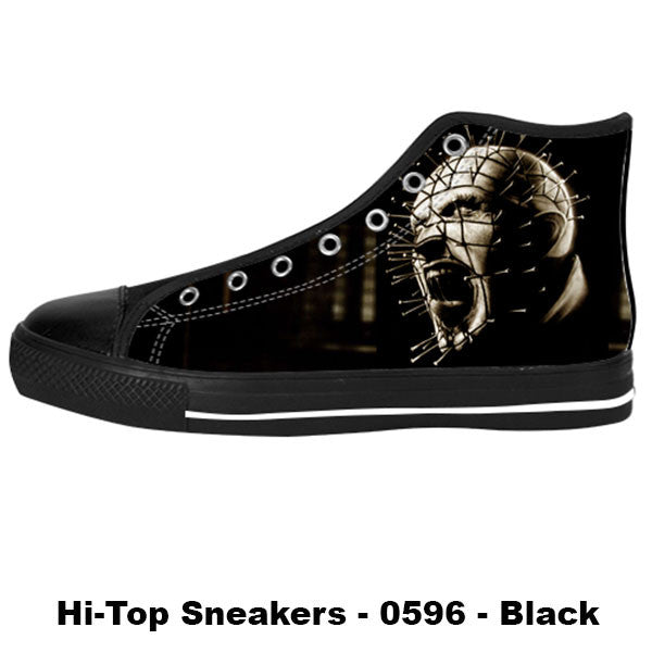 Pinhead Shoes & Sneakers - Custom Hellraiser Canvas Shoes - TeeAmazing