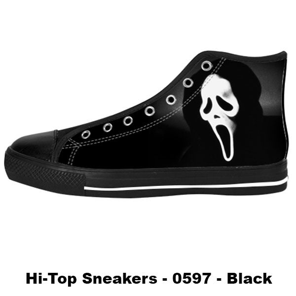 Ghostface Shoes & Sneakers - Custom Scream Canvas Shoes - TeeAmazing - 1