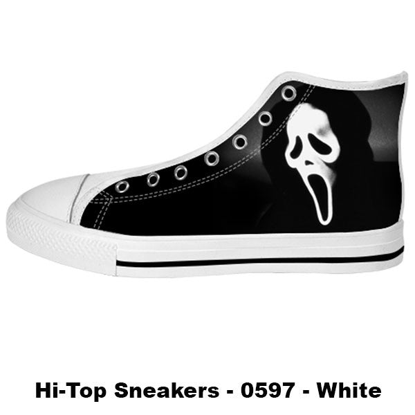 Ghostface Shoes & Sneakers - Custom Scream Canvas Shoes - TeeAmazing - 2