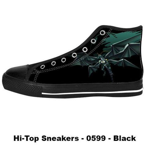 Bahamut Shoes & Sneakers - Custom Final Fantasy Canvas Shoes - TeeAmazing