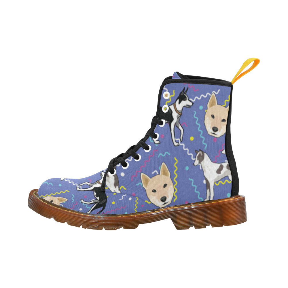 Canaan Dog Black Boots For Men - TeeAmazing