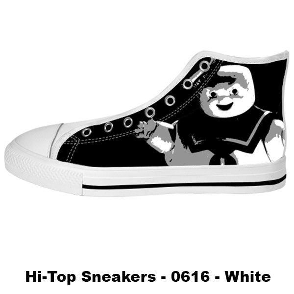 Stay Puft Marshmallow Man Shoes & Sneakers - Custom The Ghostbusters Canvas Shoes - TeeAmazing