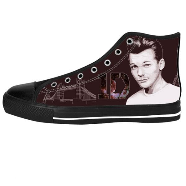 Louis Tomlinson Shoes & Sneakers - Custom One Direction Canvas Shoes - TeeAmazing - 1