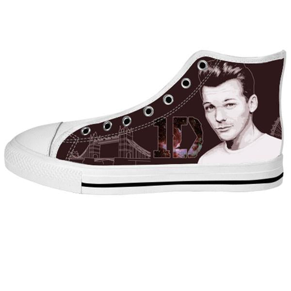 Louis Tomlinson Shoes & Sneakers - Custom One Direction Canvas Shoes - TeeAmazing - 2