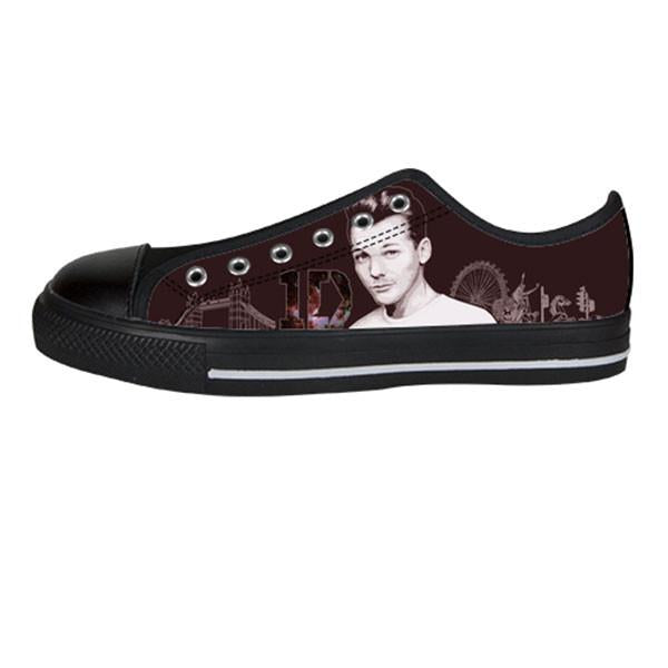 Louis Tomlinson Shoes & Sneakers - Custom One Direction Canvas Shoes - TeeAmazing - 3