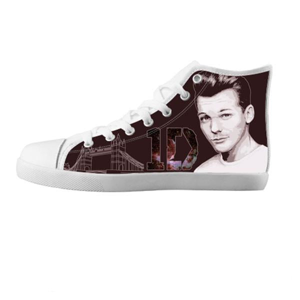 Louis Tomlinson Shoes & Sneakers - Custom One Direction Canvas Shoes - TeeAmazing - 5