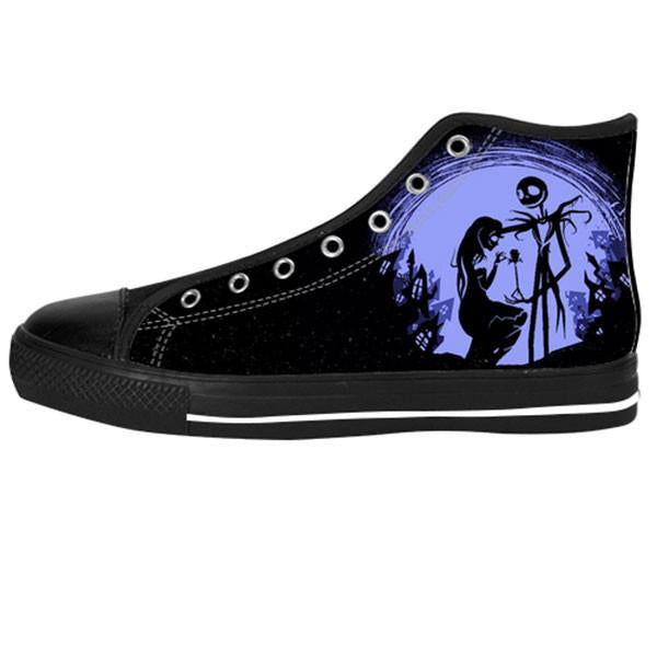 Jack Skellington and Sally Finkelstein Shoes & Sneakers - Custom The Nightmare Before Christmas Canvas Shoes - TeeAmazing - 1