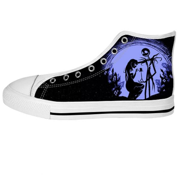 Jack Skellington and Sally Finkelstein Shoes & Sneakers - Custom The Nightmare Before Christmas Canvas Shoes - TeeAmazing - 2