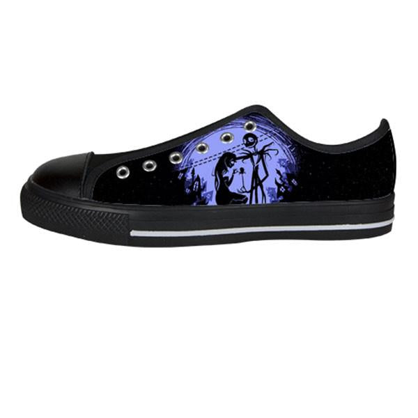 Jack Skellington and Sally Finkelstein Shoes & Sneakers - Custom The Nightmare Before Christmas Canvas Shoes - TeeAmazing