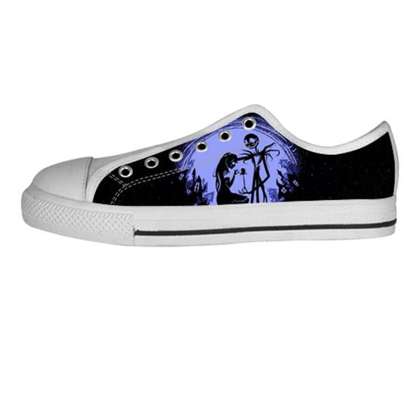 Jack Skellington and Sally Finkelstein Shoes & Sneakers - Custom The Nightmare Before Christmas Canvas Shoes - TeeAmazing - 4