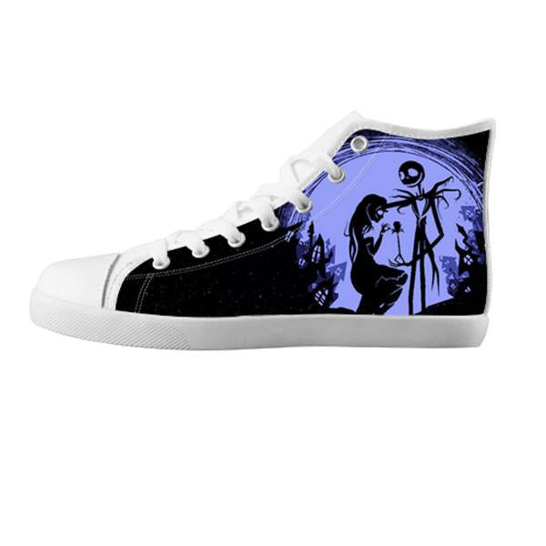 Jack Skellington and Sally Finkelstein Shoes & Sneakers - Custom The Nightmare Before Christmas Canvas Shoes - TeeAmazing - 5