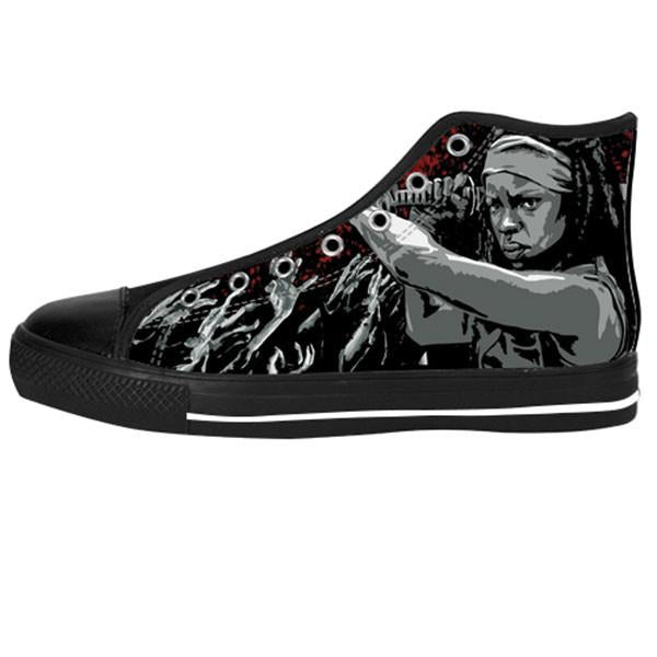 Michonne Shoes & Sneakers - Custom The Walking Dead Canvas Shoes - TeeAmazing - 1