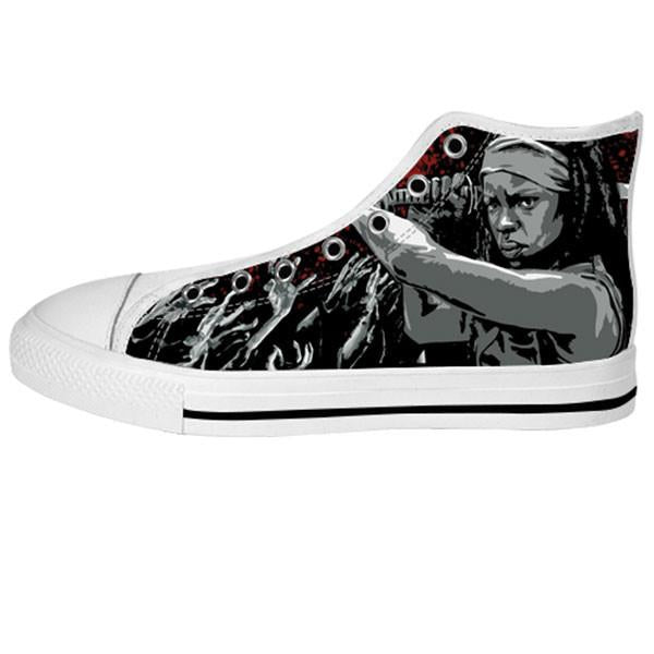 Michonne Shoes & Sneakers - Custom The Walking Dead Canvas Shoes - TeeAmazing - 2