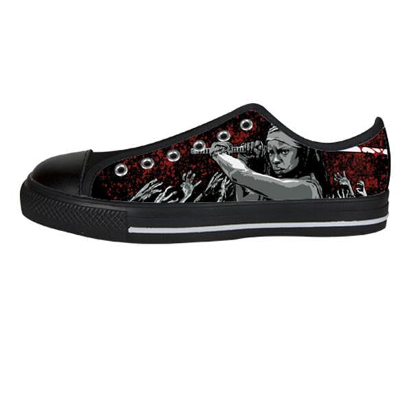Michonne Shoes & Sneakers - Custom The Walking Dead Canvas Shoes - TeeAmazing - 3