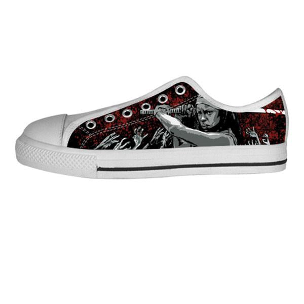 Michonne Shoes & Sneakers - Custom The Walking Dead Canvas Shoes - TeeAmazing - 4