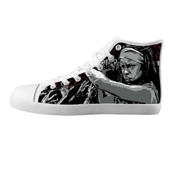 Michonne Shoes & Sneakers - Custom The Walking Dead Canvas Shoes - TeeAmazing - 5