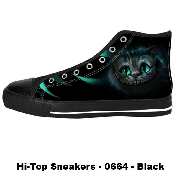 Cheshire Cat Shoes & Sneakers - Custom Alice in Wonderland Canvas Shoes - TeeAmazing - 1