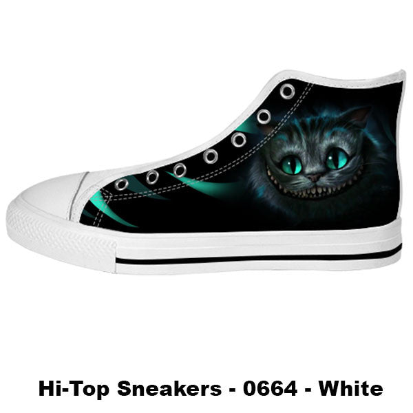 Cheshire Cat Shoes & Sneakers - Custom Alice in Wonderland Canvas Shoes - TeeAmazing
