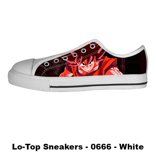 Super Saiyan God Shoes & Sneakers - Custom Dragonball Canvas Shoes - TeeAmazing - 4