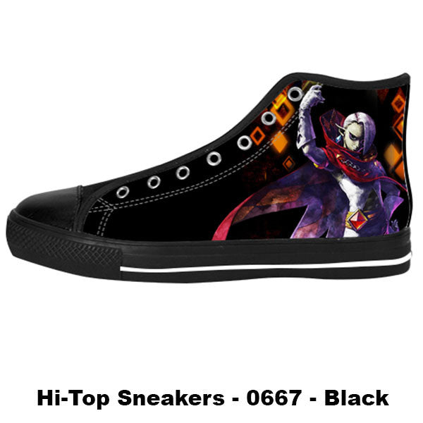 Ghirahim Demon Lord Shoes & Sneakers - Custom Zelda Canvas Shoes - TeeAmazing